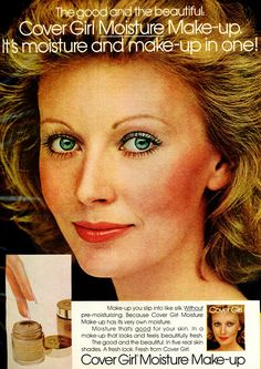 Cover Girl Makeup, Makeup Ads, Beauty Ad, Covergirl, Your Skin, Skincare, Retro, Beautiful, Vintage