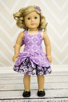 """Poppy's Peekaboo sewing pattern is now available in 15"""" and 18""""' doll sizes! How cute will your girl and her doll be this summer in matching dresses- made by you?!"""