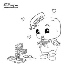 Stay Puft by JadeDragonne on DeviantArt Free Coloring Pages, Coloring Sheets, Adult Coloring, Coloring Books, Stay Puft, Female Dragon, Art Pages, Colorful Pictures, Traditional Art