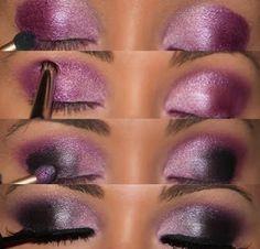 Wedding Dresses: Purple Smokey Eye Make Up