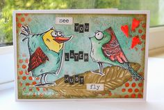 Kath's Blog......diary of the everyday life of a crafter: Off on my holibobs... using Tim Holtz, Ranger, Idea-ology, Sixxiz and Stamper's Anonymous products; Mar 2015