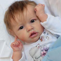 Dollish Little Nina Reborn Saskia Baby Doll Girl, Realistic&Lifelike Newborn Baby Dolls Reborn Baby Girl, Reborn Toddler Dolls, Newborn Baby Dolls, Baby Girl Dolls, Reborn Dolls, Toddler Toys, Baby Boy, Silikon Wiedergeborene Babys, Silicone Reborn Babies