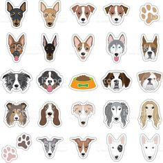 Illustrations of dog face royalty-free stock vector art