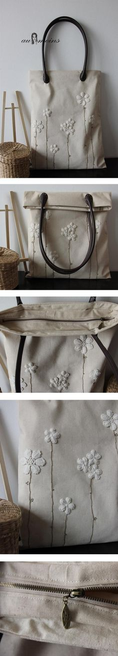 lace flowers on linen tote - leather designer handbags, purse black, latest handbags *sponsored https://www.pinterest.com/purses_handbags/ https://www.pinterest.com/explore/purse/ https://www.pinterest.com/purses_handbags/clutch-purse/ https://en.wikipedia.org/wiki/Handbag