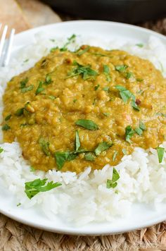 Slimming Eats Easy Low Syn Red Lentil Dhal - gluten free, dairy free, vegetarian, Slimming World and Weight Watchers friendly