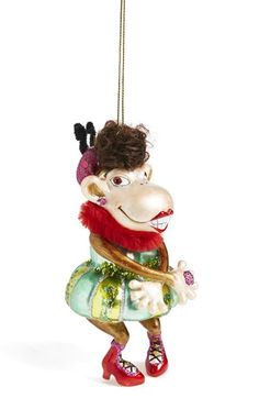JIM MARVIN Dancing Monkey Ornament available at #Nordstrom