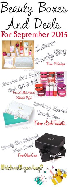 Here are the Autumn special beauty boxes and offers for September 2015, all of which ship worldwide.