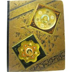 Handsome Antique Victorian Scrapbook, Trade Cards, Textile Labels, Scraps