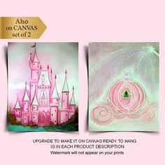 Princess Wall Art, Princess Nursery, Princess Castle, Pink Princess, Baby Wall Art, Nursery Wall Art, Girl Nursery, Nursery Decor, Room Decor