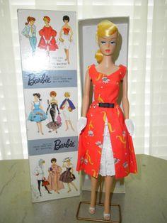 "Vintage Barbie Lemon Swirl Dressed Box Doll ""Garden Tea Party"" #Dolls Vintage Barbie Dolls, Mattel Barbie, Barbie And Ken, Barbie Dress, Barbie Clothes, Barbies For Sale, Barbie Doll House, Barbie Collector, Barbie World"