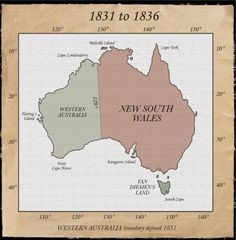 "A Nation sub-divided 1787 to 1825 The extent of British territory in New South Wales until Image copyright ""Atlas of NSW Western Australia, Australia Travel, South Australia, First Fleet, Australian Capital Territory, Devon Uk, Aboriginal Culture, Latin Words, History Timeline"