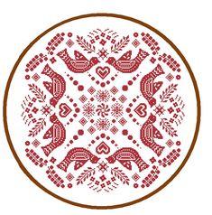 Mandala Cross Stitch Pattern Folk Art cross stitch red Geometric cross stitch…
