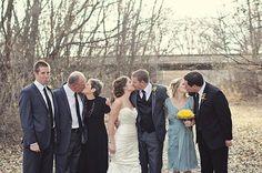 Funny wedding photograph