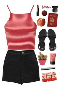 """""""Untitled #476"""" by joyce55directioner ❤ liked on Polyvore featuring Topshop, Boohoo, ASOS, NARS Cosmetics, Passport and T3"""