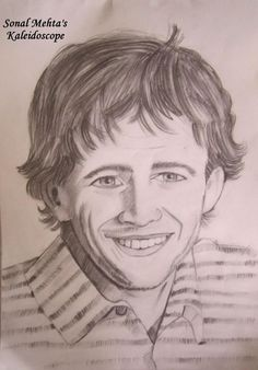 """""""LUKE PERRY (An American Actor)"""" -SMM - Sketching by Sonal M. Mehta in Sketches at touchtalent 19096"""