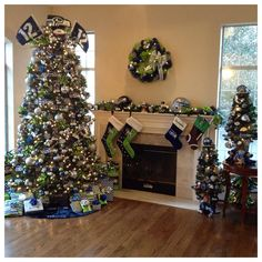 It's a Seahawk Christmas. If all my family loved the Seahawks this is what ours would look like too