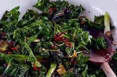 A simple Curly kale with garlic, ginger, chilli and soy recipe for you to cook a great meal for family or friends. Buy the ingredients for our Curly kale with garlic, ginger, chilli and soy recipe from Tesco today.