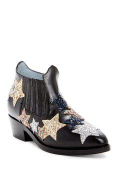 Chiara Ferragni Embroidered Star Leather Boot ArN5Bm