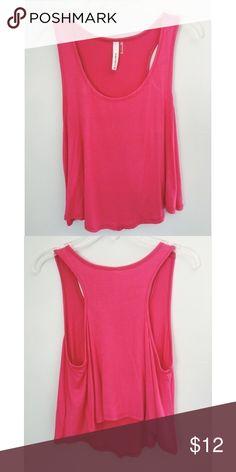 🌷🌸PINK TANK TOP Cute simple pink tank top! never worn, no tags Tops Tank Tops