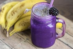 skinny blackberry banana smoothie recipe serves 1 low fat low calorie under 5 ingredents kid friendly and vegetarian