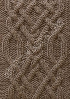 New Crochet Afghan Patterns Free Aran Ideas Aran Knitting Patterns, Knitting Stiches, Cable Knitting, Afghan Crochet Patterns, Knitting Charts, Easy Knitting, Knitting Designs, Knit Patterns, Crochet Stitches