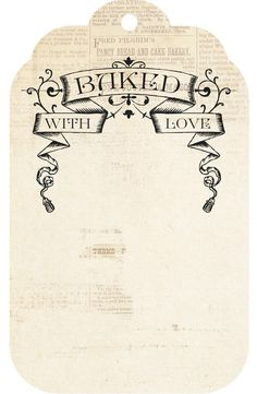 Baked with Love - free printable tag - Shabby Art Boutique