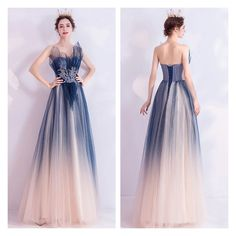 Latest Evening Gowns Floor Length Lace Up Blue Formal Dresses from formaldressau Champagne Evening Dress, Purple Evening Dress, Grey Evening Dresses, Evening Gowns, Formal Dresses Online, Cheap Formal Dresses, Formal Gowns, Formal Wear, Satin Tulle