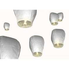 50 WHITE SKY LANTERNS - Perfect for your wedding ( R7 each ) for R350.00