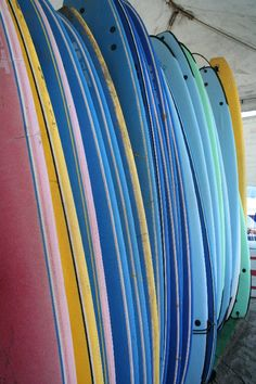 Surfboards lined up and ready to go in Sayulita on the Riviera Nayarit. Warning: this surfing thing is not as easy as those skilled local guys and gals make it look! Pacific Coast, Pacific Ocean, Hidden Beach, Surf Art, Surfboards, Mexico Travel, Ready To Go, Snorkeling, Surfing
