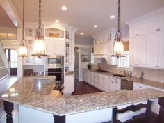 Wouldnt mind a big kitchen like this