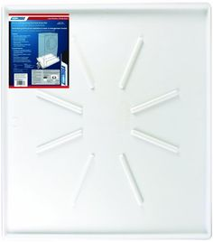 Camco 20786 35OD x 31 Washing Machine Drain Pan for Front-Loading Machines w/PVC Fitting (White) Made of no-break Polypropylene. 31 x 35 OD and 29 x 33ID. For Front-Loading machines. 1-1.5 PVC drain. Low lip design allows for clearance when opening pedestal drawers.  #Camco #Automotive_Parts_and_Accessories