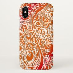 Popular Retro Nouveau Deco Paisley Floral Pattern iPhone X Case - white gifts elegant diy gift ideas