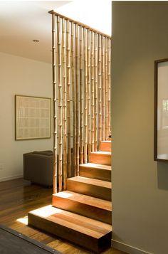 Bamboo screen/rail