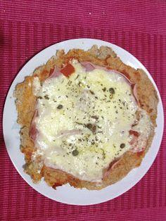 pizza de aveia de frigideira