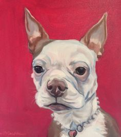 Dog portrait by Evelyn McCorristin Peters #barkingdogcreations
