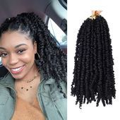 Pre-twisted Passion Twists Synthetic Crochet Braids 2 Strands) 12 inch Black Pre-looped Spring Bomb Crochet Hair Extensions Fiber Fluffy Curly Twist Braiding Hair – Hair & Wig Care – All Fashion 4 Women - Crochet Try On Hairstyles, Crochet Braids Hairstyles, Twist Hairstyles, Pretty Hairstyles, Twist Braids, Twists, Afro Hair Girl, Crochet Hair Extensions, Extensions Hair