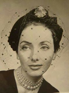1950's hat with veil