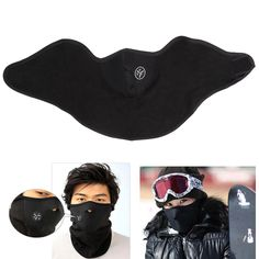 New 1x Neoprene Neck Face Warm Black Mask Sport Motorcycle Bike Veil Beanies Soft Warm Mask Cap BHU2