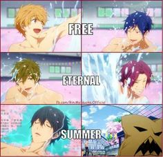 Free Eternam Summer ending ...  Free! - Iwatobi Swim Club, haruka nanase, haru nanase, haru, free!, iwatobi, makoto tachibana, makoto, tachibana, nagisa hazuki, nagisa, hazuki, nanase, rei, rei ryugazaki, ryugazaki, rin, rin matsuoka, matsuoka