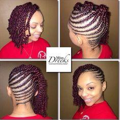 Natural Hair Flat Twist, Natural Hair Weaves, Natural Hair Tips, Natural Hair Styles, Natural Life, Natural Beauty, Ponytail Hairstyles, Weave Hairstyles, Cute Hairstyles