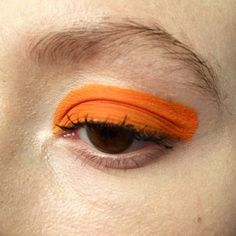 Avant-garde makeup / creative makeup / artistic makeup / fashion / orange eye shadow / bold / eye makeup → wolf and moon #lookbook #ss15
