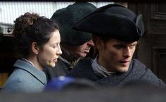 Behind the Scenes Photos of Sam and Caitriona Filming 'Outlander' in Edinburgh, Scotland | Outlander TV News