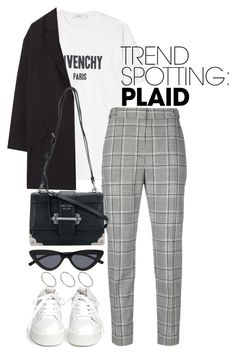 """Untitled #5289"" by theeuropeancloset ❤ liked on Polyvore featuring Givenchy, Alexander Wang, MANGO, Ash, Prada, ASOS, contestentry and NYFWPlaid"