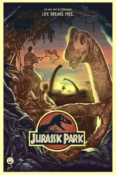 Jurassic Park from artist Nicolas Barbera - Print Poster Wall Decor - Movie Poster Jurassic Park Film, Jurassic Park World, Jurassic World Movie Poster, Jurassic Park Islands, Movie Poster Art, Film Posters, Poster Wall, Poster Prints, Jurrassic Park
