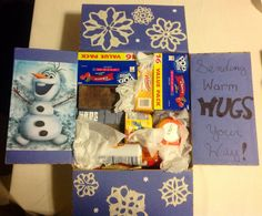 Disney 'Frozen' Olaf Themed Deployment, Military, Care Package -Go Army!    Created by: Christina Dixon & Sierra Sheffield