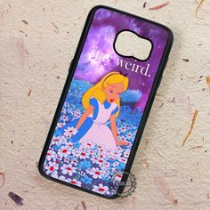Alice in Wonderland Stay Weird - Samsung Galaxy S7 S6 S5 Note 7 Cases & Covers