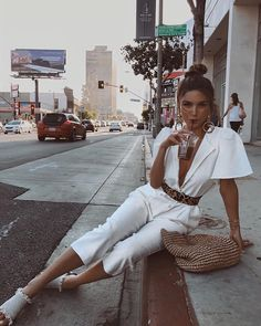 Negin Mirsaleh just backed this Jumpsuit Outfit- THECLCK Look like Negin Mirsalehi in this Nasty Gal jumpsuit Street Style Outfits, Mode Outfits, Chic Outfits, Trendy Outfits, Fashion Outfits, Party Outfits, Fashion Clothes, Fashion Trends, Spring Summer Fashion