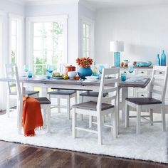 Dining Room Table Urban Barn Chateau Ext Silvermoon