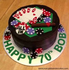 Welcome to Mary Alexander's Cakes. Poker theme cake.