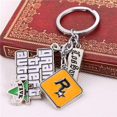 PS4 GTA 5 Game keychain Hot Sale ! Grand Theft Auto 5 Key Chain For Fans Xbox PC Rockstar Key Ring Holder 4.5cm Jewelry Llaveros IJ&R Game PS4 GTA 5 keychain Grand Theft Auto 5 Key Chains For Men Fans Xbox PC Rockstar Key Ring Holder Cosplay Jewelry Llaverotem Type:Key Chains J&R Game...